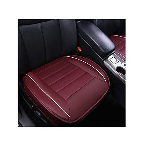 GUOCU Sitzbezüge Auto Sitzauflage Sitzkissen Auto Abdeckung für Vordersitz mit PU Leder,Weinrot,Vordersitz & Rücksitz