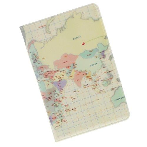 Sharplace Funda Pasaporte Cuero PU Estampado Mapa