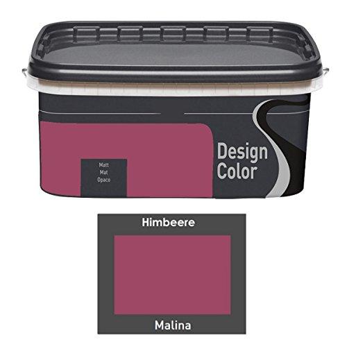 Design Color 5 L. farbige Innenfarbe, Wandfarbe Himbeere, Malina, Rot, Matt