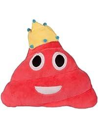 Covermason Divertido Emoji Poo Forma y Corona Cojines Emoticon Juguete Muñeca Almohada (20cm, H)