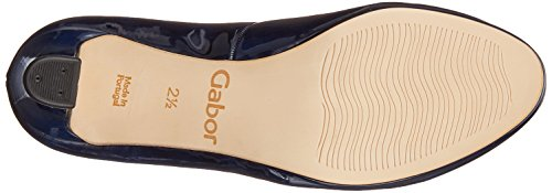 Gabor Damen Fashion Pumps Blau (Marine (Natur))