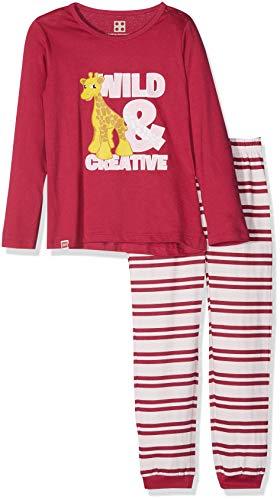 LEGO Baby-Mädchen Zweiteiliger Schlafanzug Duplo Girl CM-73446 Pyjama, Rot (Dark Pink 495) 80