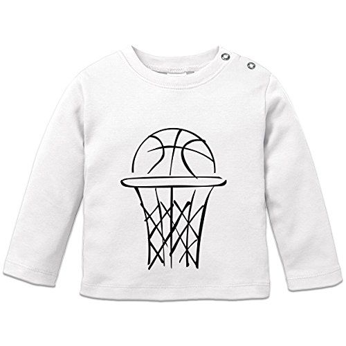Basketball Scribble Baby Langarmshirt by Shirtcity (Basketball-baby-mädchen)