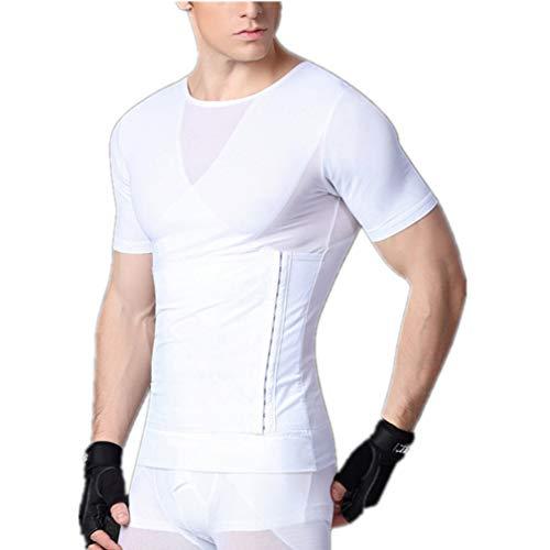 Männer Abnehmen T-Shirts Taille Trainer Gürtel Korsett Kompression Bauch Body Shaper Tops - Mens L/s Western Shirt