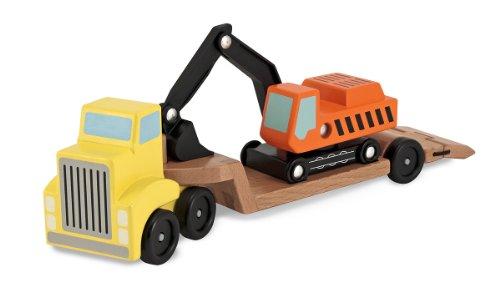 Melissa & Doug - 14577 - Camion À Plate-Forme Surbaissée Et Excavatrice 0000772145770