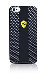 FERRARI Coque Carbone Noire Logo Officiel Jaune iPhone 5/5S