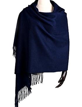 LerBen Pashmina extra grande para mujeres y hombres, 200 x 70 cm aprox., suave, mezcla de lana, bufanda larga,...