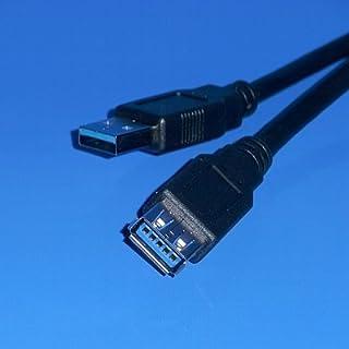 BestPlug 5 Meter 3.0 USB Kabel / USB A-Stecker männlich auf USB A-Buchse Kupplung weiblich / 5000 Mbit s Übertragungsrate / Schwarz