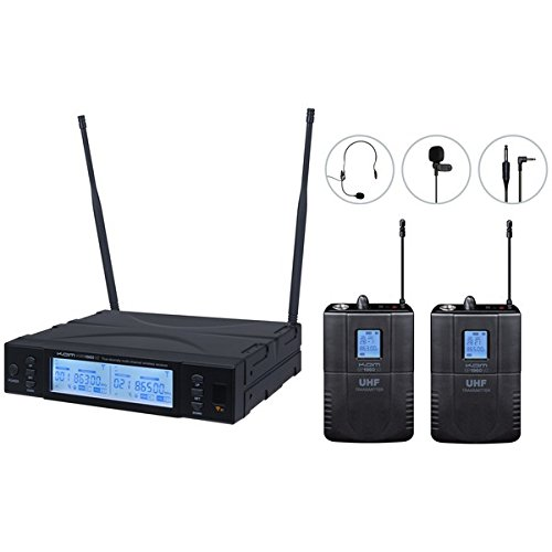 kam-kwm-1960-bp-v2-channel-38-uhf-twin-wireless-bodypack-microphone-system