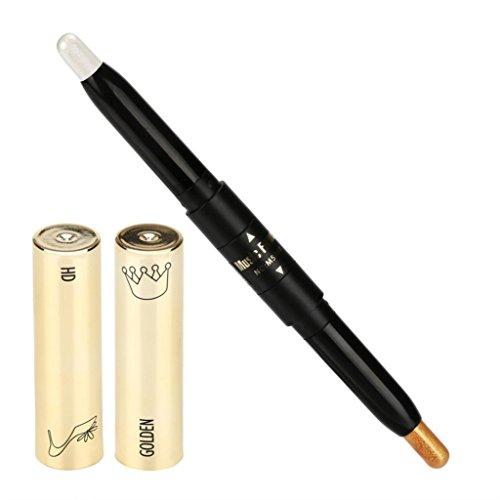 Gaddrt Durable imperméable à l'eau double-end surligneur crayon à paupières 1.5 g + 1.5 g (F)