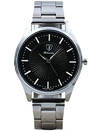 b1adf2b4bd2c ❤ Amlaiworld Reloje Hombres Mujer reloj deportivo niños baratos Reloj de  pulsera analógico deportivo de acero inoxidable para hombres de negocios  (A)  ...