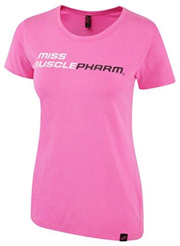 Muscle Pharm Damen Textilbekleidung Ladies Printed T-Shirt, White, S, MPLTS414 Pink