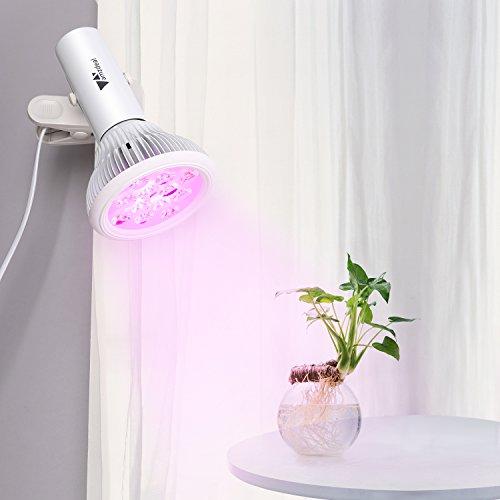 Amzdeal LED Pflanzenlampe - Wachstum Tageslicht Pflanzenleuchte für Garten Gewächshaus...