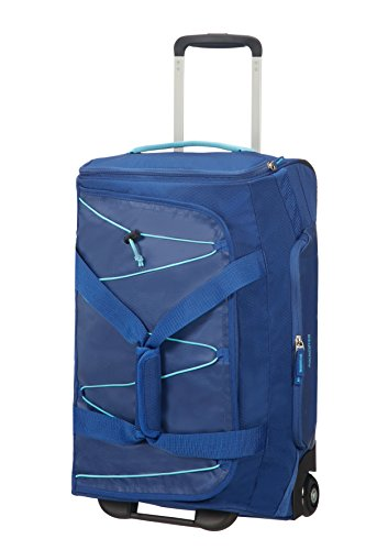 American Tourister Road Quest Wheeled Duffle 55/20 Bolsa de Viaje, 55 cm, 42 Liters, Azul (Deep Water Blue)
