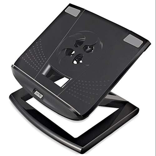 Laptophalterung mit Heat-Vent, Verstellbarer Notebook-Ständer, kompatibel für Laptops (4 bis 17 Zoll), einschließlich MacBook Pro/Air, Surface-Laptop, Samsung, HP-Silver (Farbe : Schwarz)