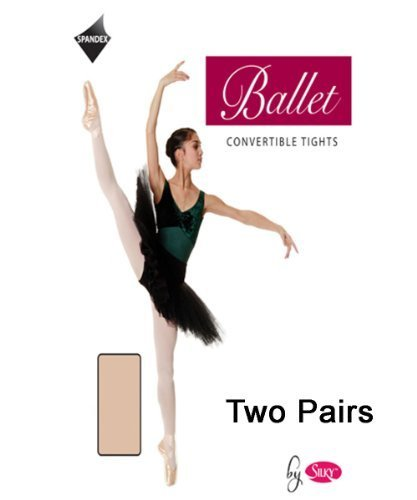 2-Pairs-Silky-Adult-Womens-Convertible-Dance-Ballet-Tights-2-Pairs