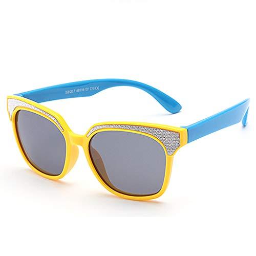 Sonnenbrillen Mode Kids Polarized Sonnenbrillen für Jungen Mädchen Weiche, flexible UV400-Schutz Silikagel-Rahmen Reflektierende Linsen für Baby und Kinder von 3 bis 12 Jahren mit Geschenkbox