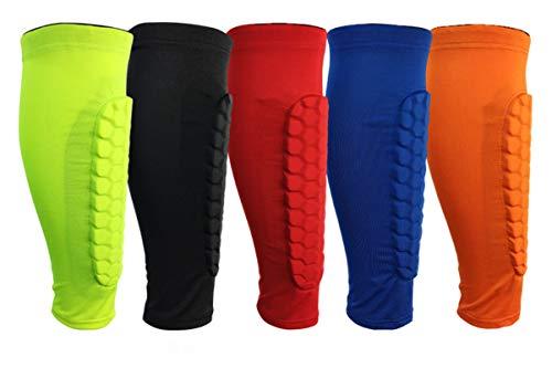 AnazoZ Wadenbandage Sport Waden Kompressionsstrümpfe Wadenstrümpfe Geeignet für Basketball, Tennis, Fußball, Laufen, Volleyball und Bergsteigen - Orange M