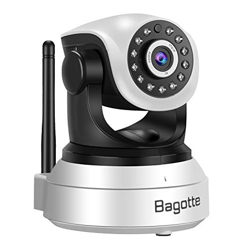 Bagotte HD 720P Telecamera Sorveglianza Wifi Interno, Videocamera IP Wireless Camera, Visione Notturna a Infrarossi , Audio Bidirezionale, Sensore di Movimento Pan/Tilt, Compatibile con iOS & Android - 2