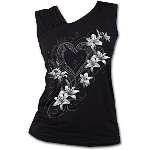 Spiral - Camiseta sin Mangas - para Mujer Negro Negro
