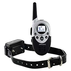 Collier de dressage de chien électrique rechargeable hautement étanche télécommandé sans fil à portée de 400 mètres avec LCD écran