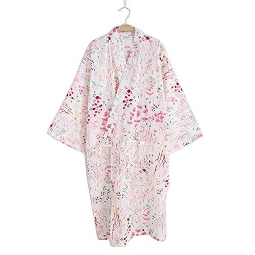 Kimono Robe Yukata para mujer, pijama para albornoz # 01