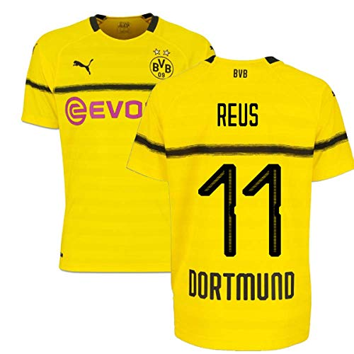 2018-19 Borussia Dortmund Home UCL Football Soccer T-Shirt Camiseta (Marco Reus 11) - Kids