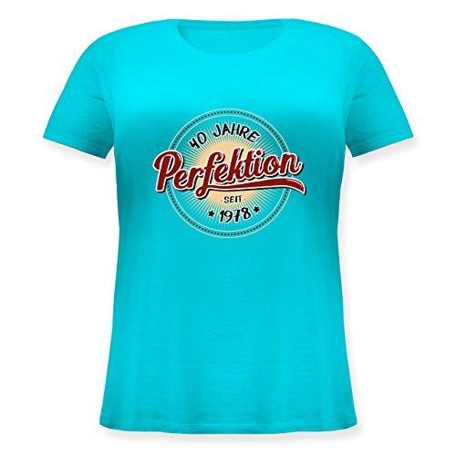 Shirtracer Geburtstag - 40 Jahre Perfektion Seit 1978 - Lockeres Damen-Shirt in Großen Größen mit Rundhalsausschnitt Türkis