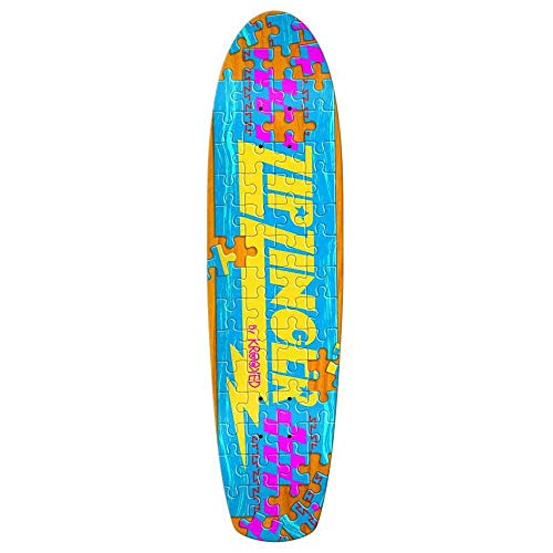 Krooked Skateboards-Deck Zip Zinger Piece Out Gripped - 7.5 Inch Assorted (One Size, Gelb)