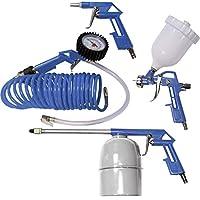 a1d9e4c3fcb7ab Scheppach 3906101704 Accessoires pour compresseur - 5 pièces - tuyau en  spirale, pulvérisateur de peinture