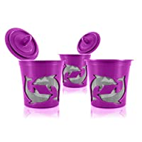 High Quality Mesh Single Serve Refillable Coffee Filter K-Cups in Purple