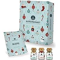 Ankerkraut Premium Gewürz-Adventskalender 2021   Weihnachtskalender mit 24 Gewürz-Überraschungen   Gewürz Kalender als…