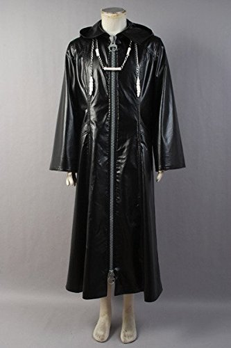 Organisation XIII Kingdom Hearts II Cosplay Pleather Mantel Kostüm Neue Version Herren XS (Kingdom Hearts Ii Sora Kostüm)