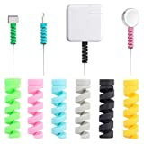 Kabel Schutz, 16 Stück iPhone Android Kabel Schutzfolie, Datenleitung Protector Telefon Ladegerät Kabel Saver, Für USB Kopfhörer MacBook, Zufällige Farbe