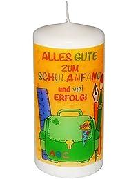 Preisvergleich für alles-meine.de GmbH Kerze - Alles Gute Zum Schulanfang und Viel Erfolg - 11 cm Hoch - Tischker..