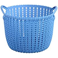 Comparador de precios Storage basket Best Cesta de Almacenamiento plástica del hogar Cesta de Ropa Cesta de Almacenamiento del Dormitorio de la Lavandería con la manija Home Decor (Color : Azul Claro, Tamaño : Pequeño) - precios baratos