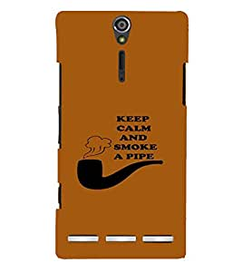 PrintVisa Cool Boy Pipe Smoke 3D Hard Polycarbonate Designer Back Case Cover for Sony Xperia S :: SL LT26I LT26ii