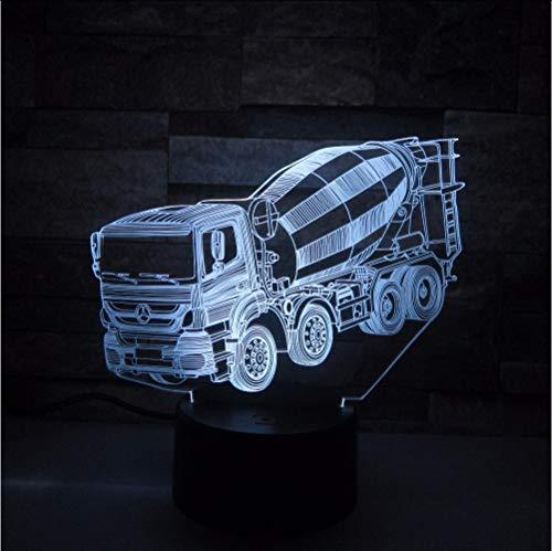Mixer 3D Nachtlicht LED Fernberührungsschalter 7 Farbwechsel 3d Lampe Lkw Auto Baby Schlafatmosphäre lampe Als Kindergeschenk (Palme-touch-lampe)