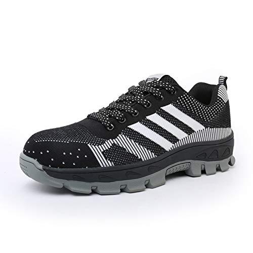 Yeeper Zapatillas de Seguridad Deportivos con Puntera de Acero/Zapatos de Trabajo Transpirable Resistente...