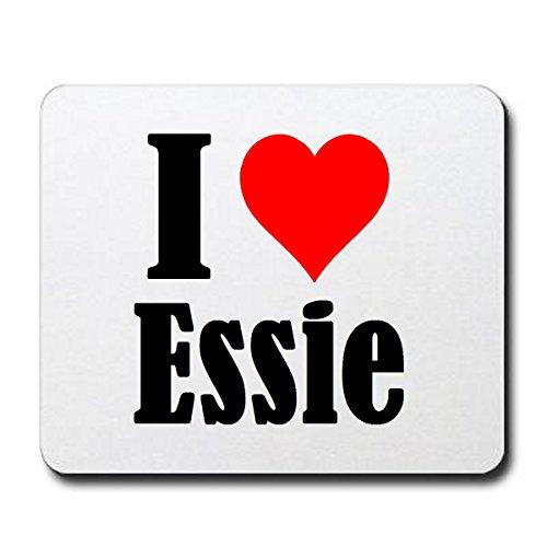 """Regali Esclusivi: Tappetini per il Mouse """"I Love Essie"""" in Bianco, un Grande regalo viene dal Cuore - Ti amo - Mouse Pad - Antisdrucciolevole - Punte di Natale"""