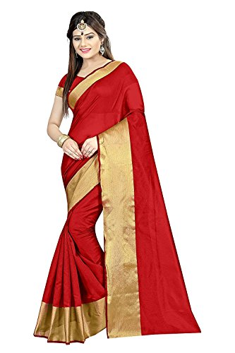 Sarees (Women's Clothing Saree For Women Latest Design Wear Sarees New Collection in Blue and White Coloured Velvet and Brasso Material Latest Saree With Designer Blouse Free Size Beautiful Saree For Women Party Wear Offer Designer Sarees With Blouse Piece)  available at amazon for Rs.299