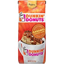Dunkin Donuts Bakery Series Ground Coffee, Caramel Cake, 11 oz