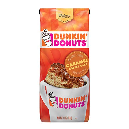 Dunkin' Donuts Bakery Series Ground Coffee, Caramel Cake, 11 oz