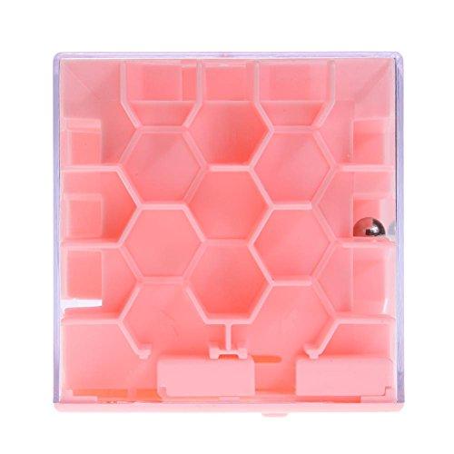 Zibuyu 3D Money Maze Puzzle Game Challenge Piggy Bank Magic Cube Box (Pink)
