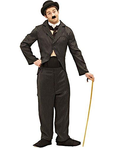Berühmte Kostüme Schnurrbärte (Stummfilm Star Kostüm Karneval Fasching Herren Verkleidung Mottoparty Extra)