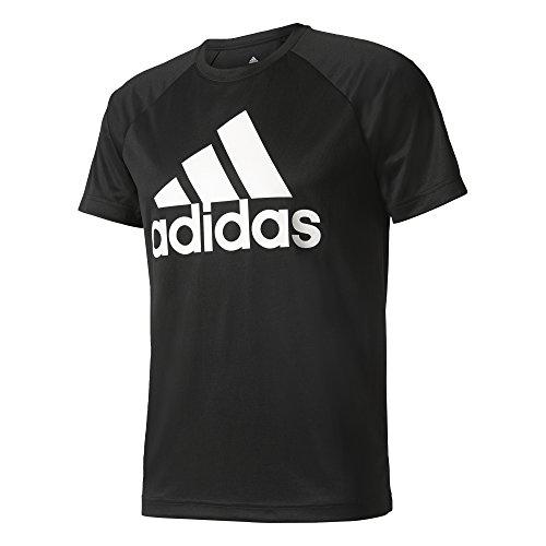 adidas Herren D2m Tee Logo Shirt, Schwarz Black