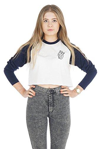 Sanfran Clothing Damen T-Shirt White (Navy)