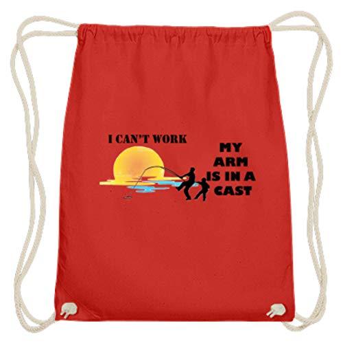 Hochwertige Baumwoll Gymsac - Ich Kannnicht Arbeiten, Meine Arme Sind Beschäftigt - Schlichtes Und Witziges Design