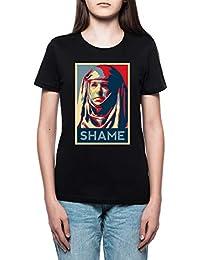 c983c2161 Shame Mujer Camiseta Cuello Redondo Negro Manga Corta Todos Los Tamaños  Women s Black