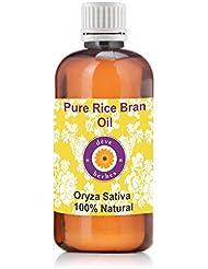 Pure Rice Bran Oil 100ml (Oryza sativa) 100% Natural Cold Pressed Therapeutic Grade